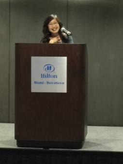 Dr. Linda Trinh Võ addressing AAAS national conference in Miami